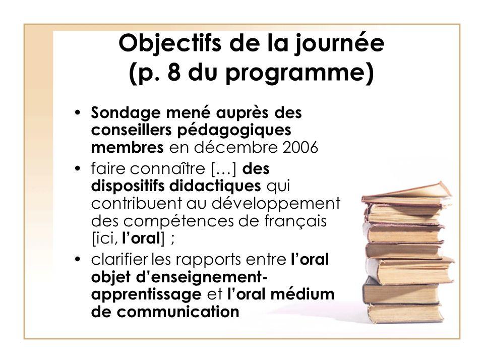 Références Dolz, J.et Schneuwly, B. (1998). Pour un enseignement de loral.