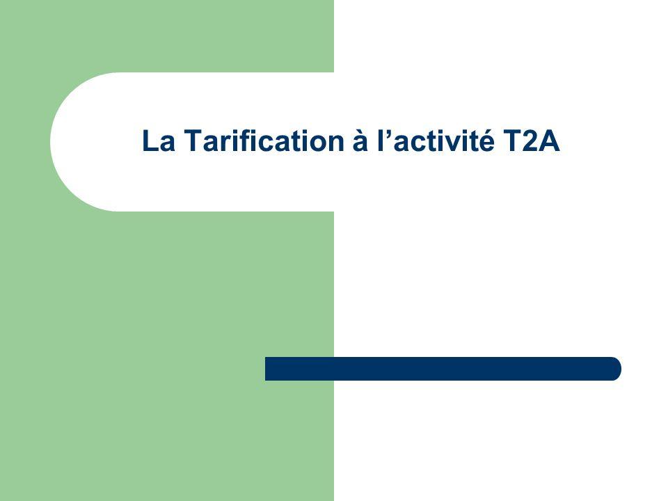 La Tarification à lactivité T2A