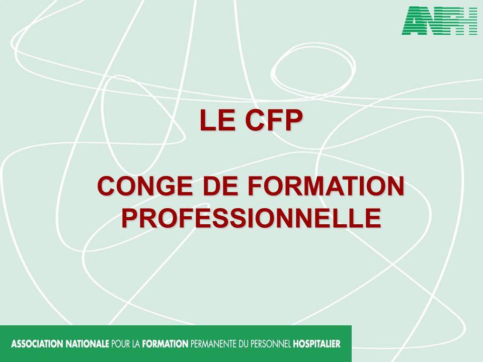 LE CFP CONGE DE FORMATION PROFESSIONNELLE