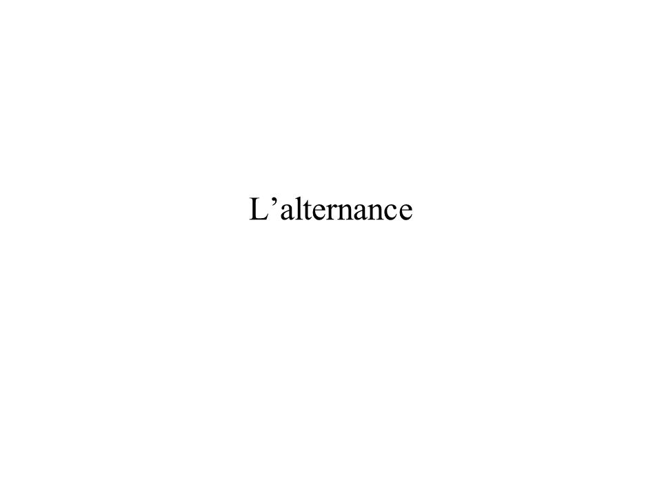Lalternance :cest deux pôles de formation –Le centre de formation –Le lieux de travail Lalternance : cest deux milieux : –Celui de la formation avec ses professionnels que sont les formateurs, les conseillers, ….