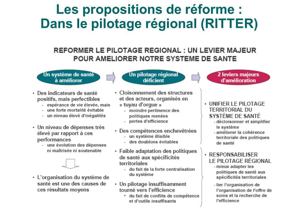 Les propositions de réforme : Dans le pilotage régional (RITTER)