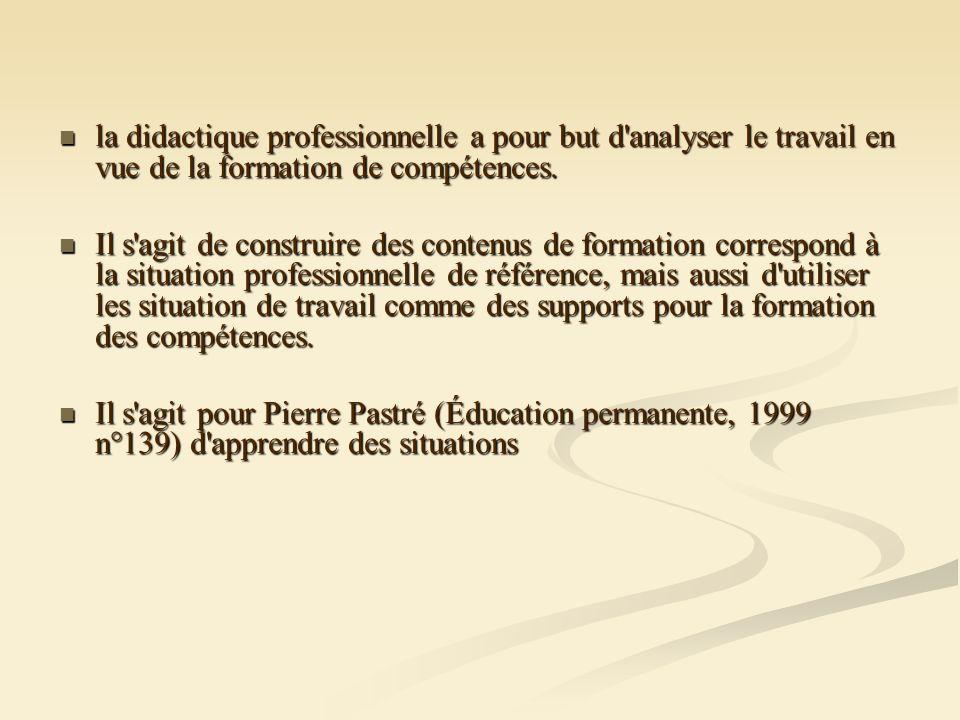 A l origine deux courants : A l origine deux courants : la psychologie du travail, avec des auteurs comme Faverge et Leplat qui mettent en évidence la dimension cognitive qui existe dans tout travail la psychologie du travail, avec des auteurs comme Faverge et Leplat qui mettent en évidence la dimension cognitive qui existe dans tout travail la psychologie du développement avec des auteurs comme Piaget, Vygotski, Vergnaud qui insistent sur le rôle de la conceptualisation dans l activité professionnelle (dans l action).
