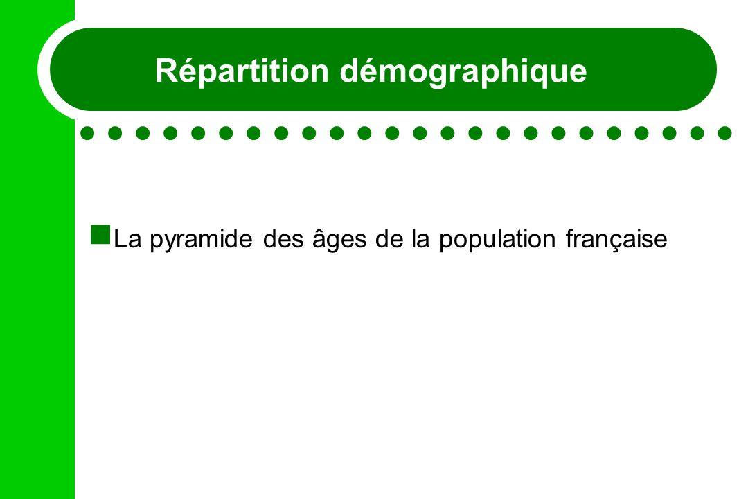 Répartition démographique La pyramide des âges de la population française
