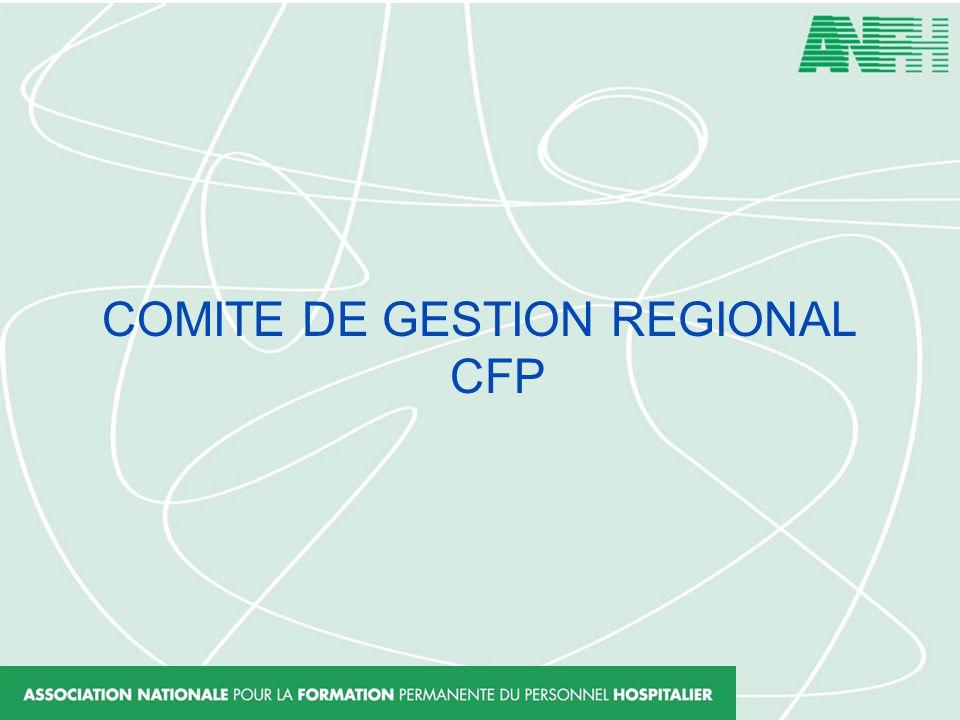 COMITE DE GESTION REGIONAL CFP