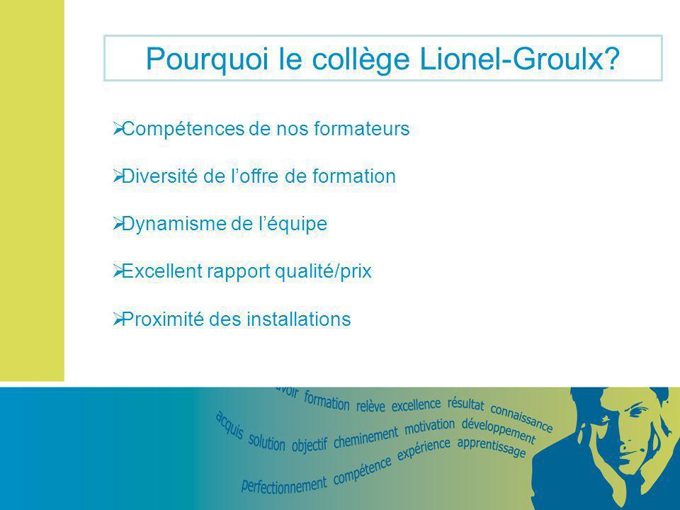Pourquoi le collège Lionel-Groulx.