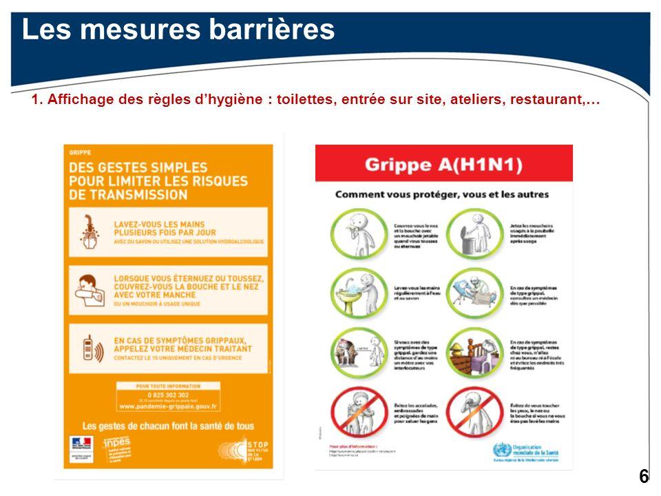 6 Les mesures barrières 1.