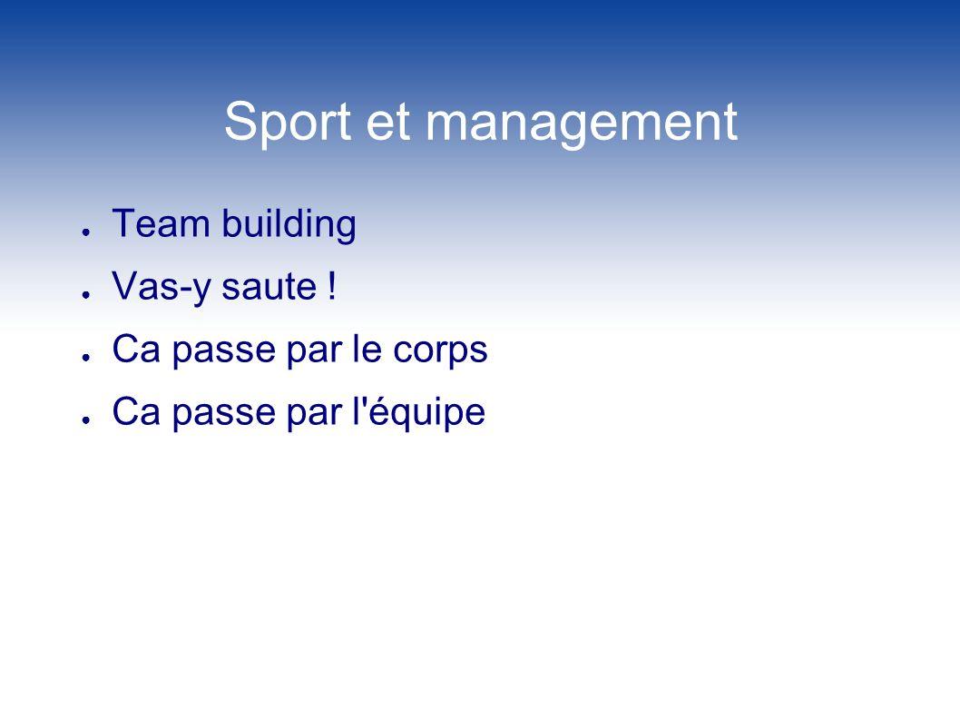 Sport et management Team building Vas-y saute ! Ca passe par le corps Ca passe par l'équipe