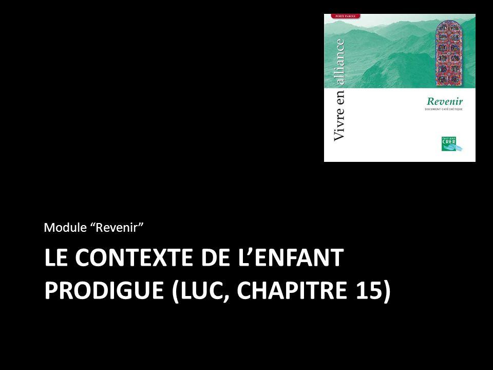 LE CONTEXTE DE LENFANT PRODIGUE (LUC, CHAPITRE 15) Module Revenir