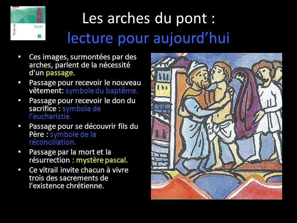 Les arches du pont : lecture pour aujourdhui Ces images, surmontées par des arches, parlent de la nécessité d'un passage. Passage pour recevoir le nou