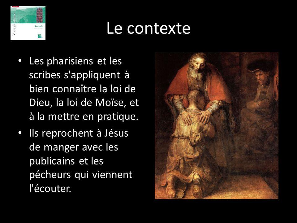 Le contexte Les pharisiens et les scribes s'appliquent à bien connaître la loi de Dieu, la loi de Moïse, et à la mettre en pratique. Ils reprochent à