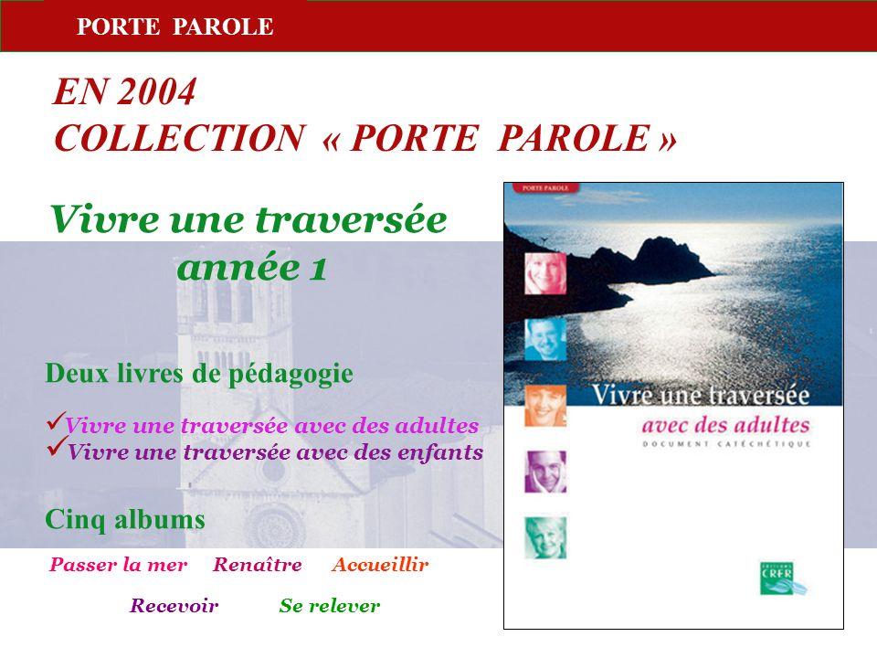 PORTE PAROLE EN 2004 COLLECTION « PORTE PAROLE » Vivre une traversée année 1 Deux livres de pédagogie Vivre une traversée avec des adultes Vivre une t