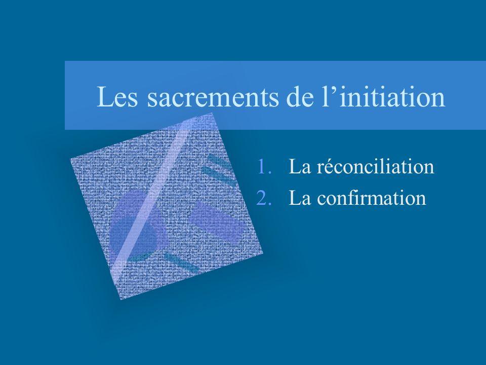 Les sacrements de linitiation 1.La réconciliation 2.La confirmation
