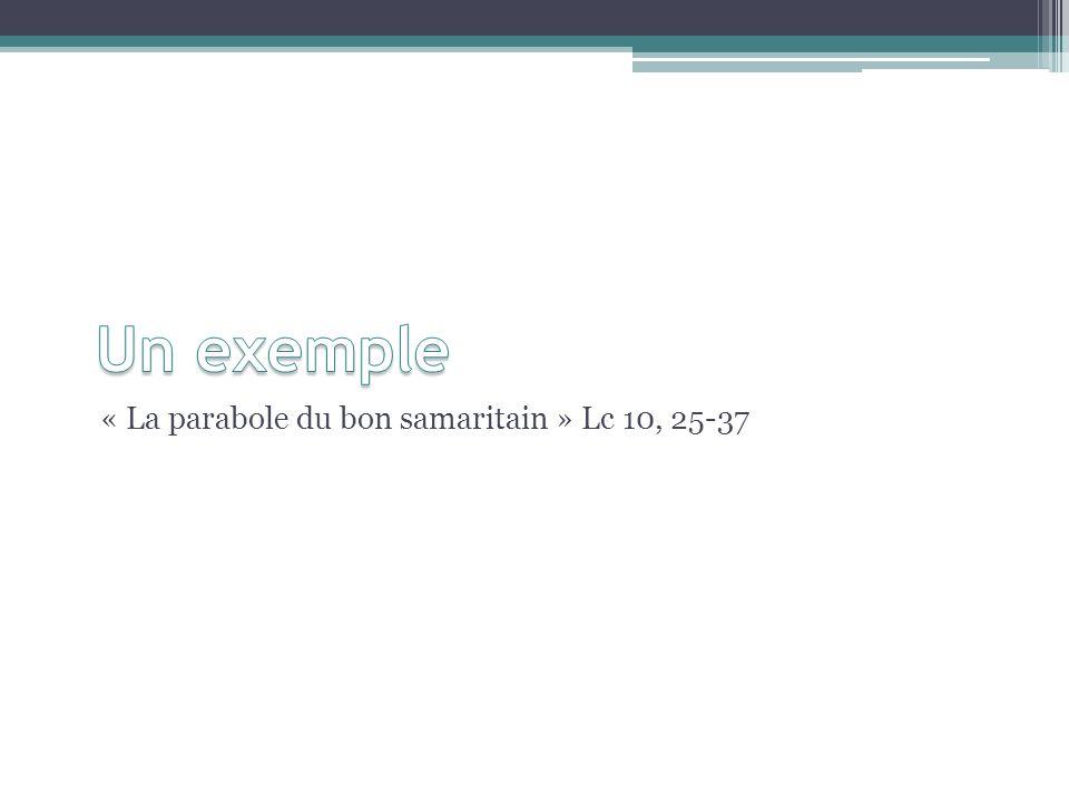« La parabole du bon samaritain » Lc 10, 25-37
