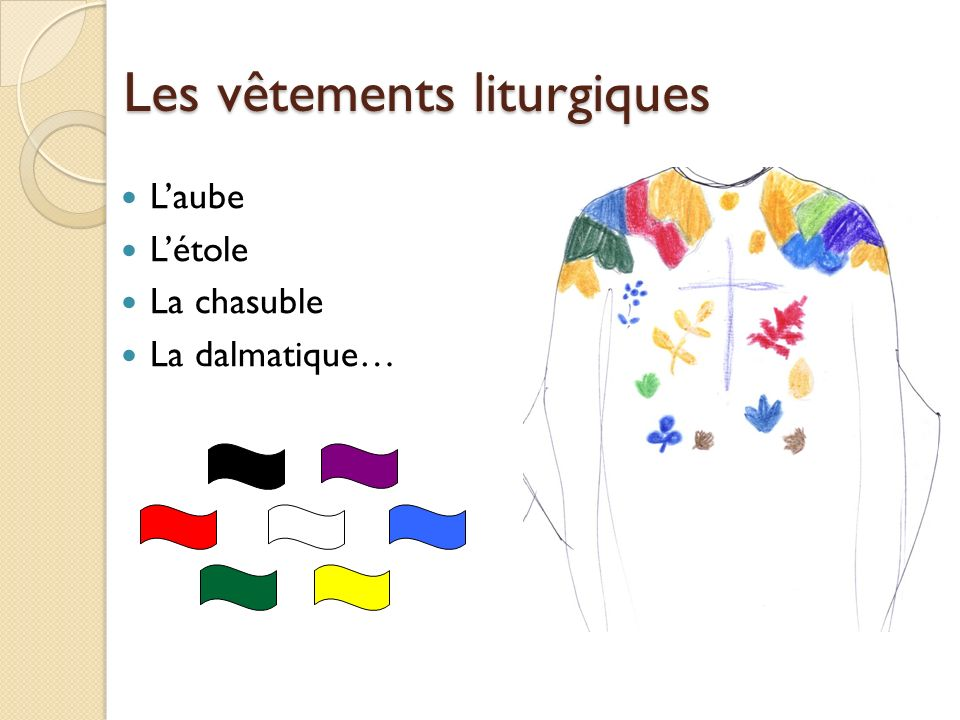 Les vêtements liturgiques Laube Létole La chasuble La dalmatique…