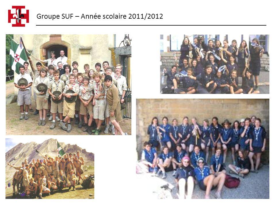 Groupe SUF – Année scolaire 2011/2012