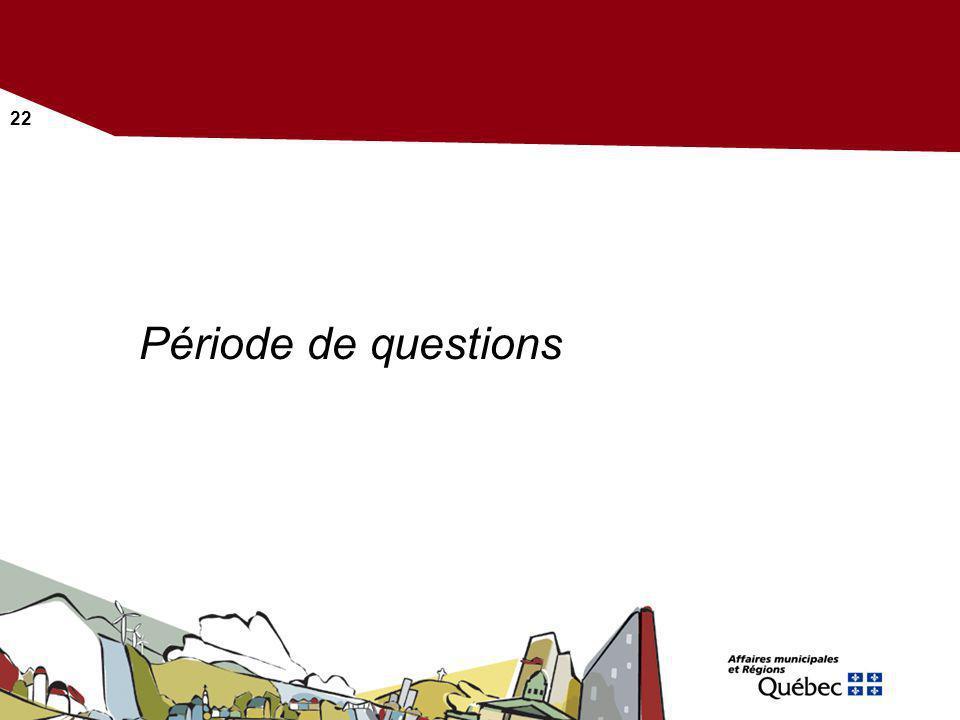 22 Période de questions