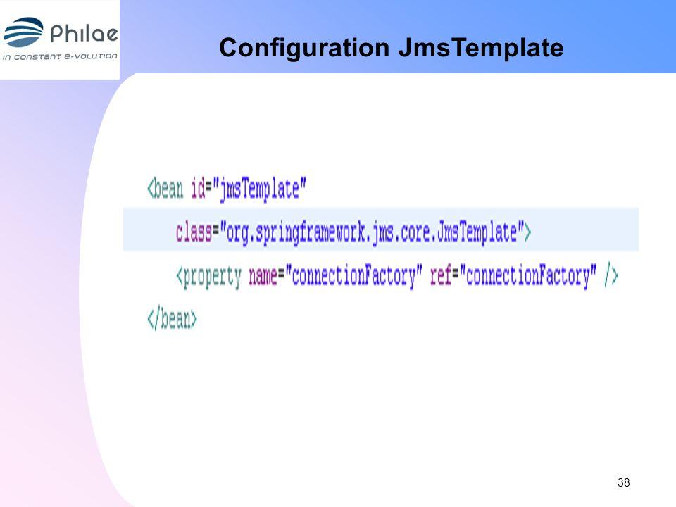 Configuration JmsTemplate 38