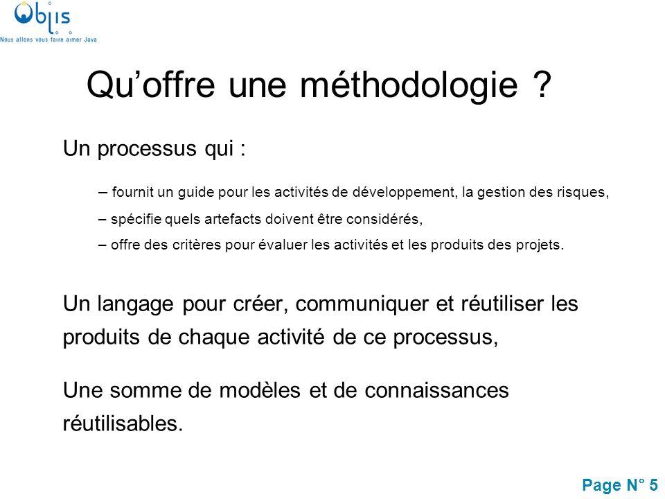 Page N° 6 Introduction Processus de développement Concepts objets UML et les activités de modélisation Lapproche MDA