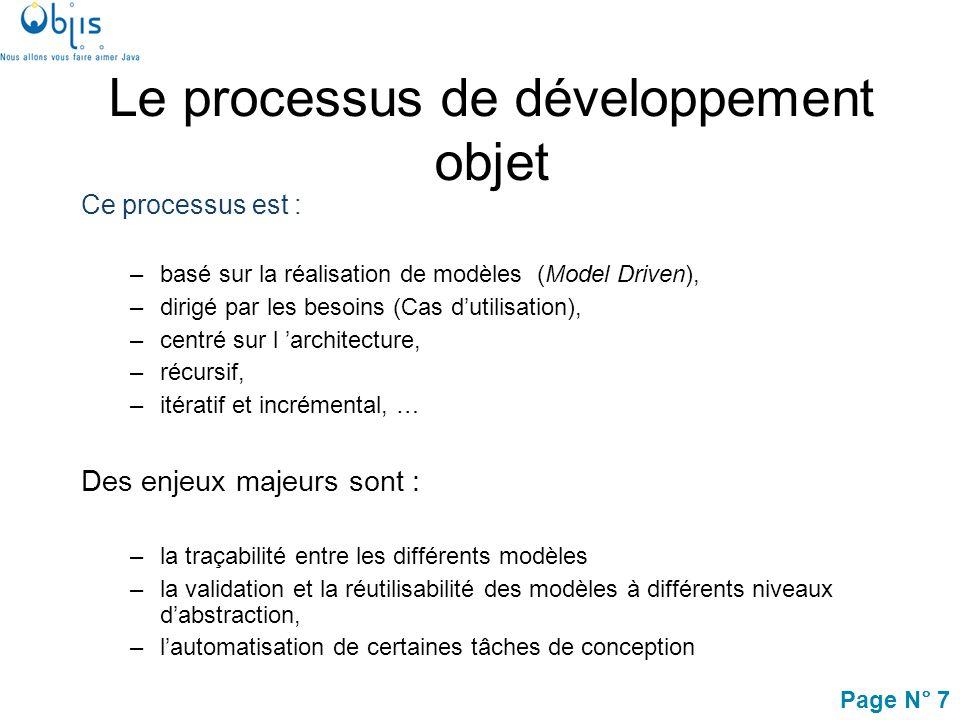 Page N° 38 Introduction Processus de développement Concepts objets UML et les activités de modélisation Modélisation des exigences avec UML Lapproche MDA