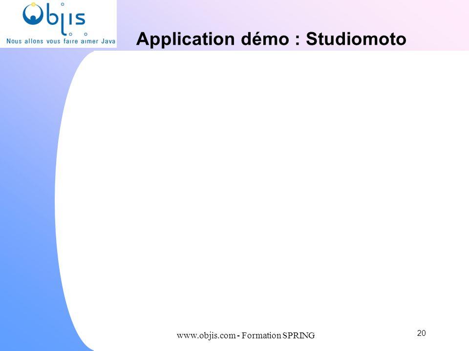 Application démo : Studiomoto 20