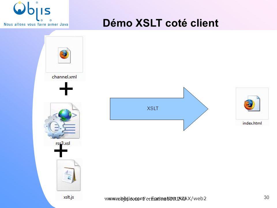 www.objis.com - Formation SPRING Démo XSLT coté client 30 www.objis.com - Formation AJAX/web2 XSLT + +