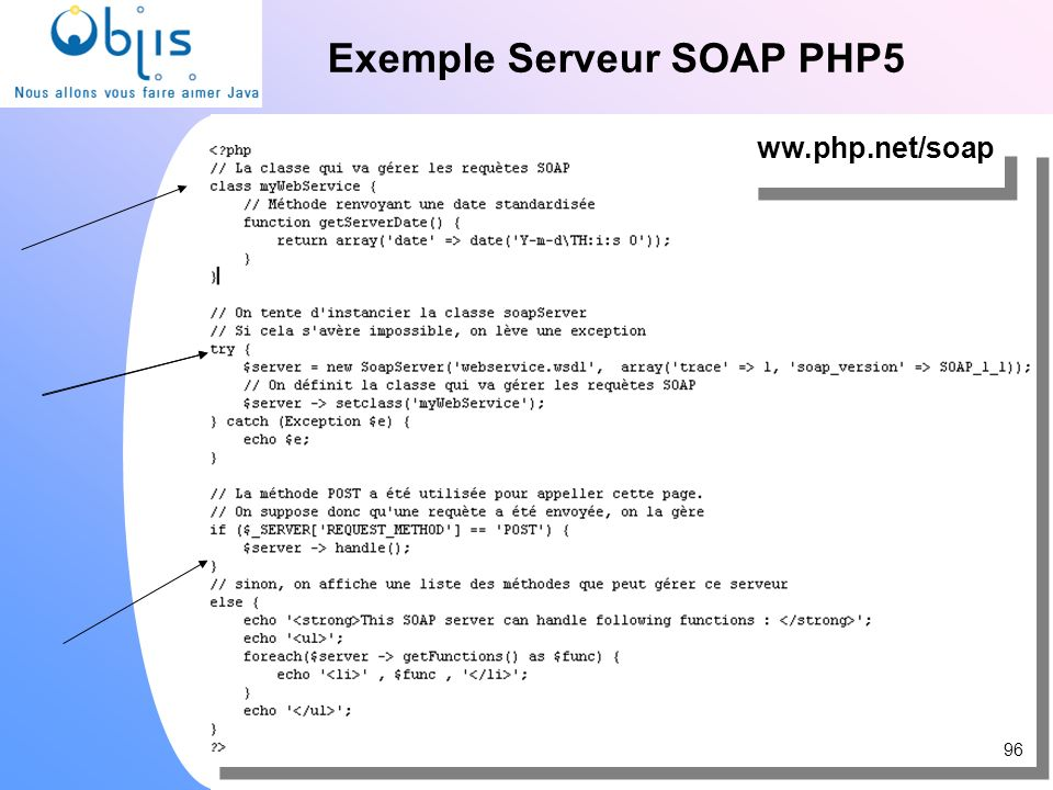 Exemple Serveur SOAP PHP5 96 ww.php.net/soap