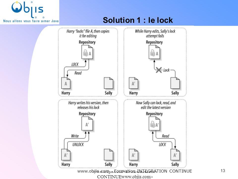www.objis.com - INTEGRATION CONTINUEwww.objis.com - Formation SPRING Solution 1 : le lock 13 www.objis.com - Formation INTEGRATION CONTINUE