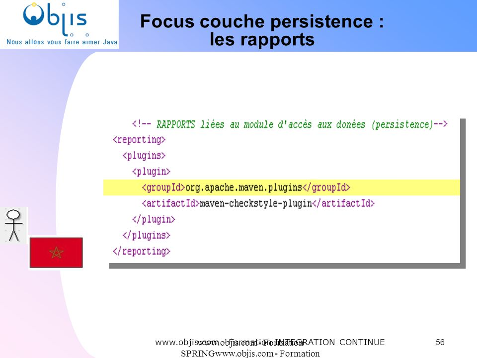 www.objis.com - Formation SPRINGwww.objis.com - Formation SPRING Focus couche persistence : les rapports 56 www.objis.com - Formation INTEGRATION CONT