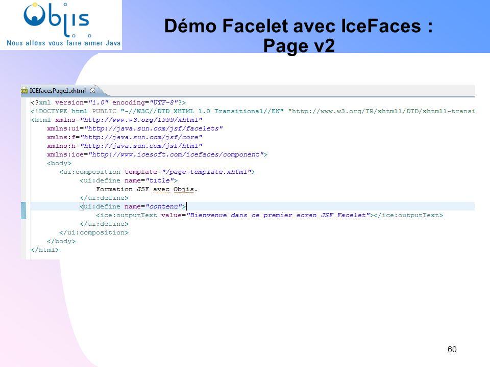 Démo Facelet avec IceFaces : Page v2 60