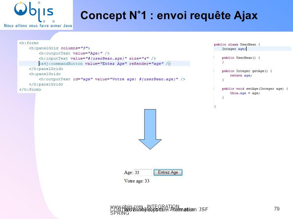www.objis.com - INTEGRATION CONTINUEwww.objis.com - Formation SPRING Concept N°1 : envoi requête Ajax 79 www.objis.com - Formation JSF