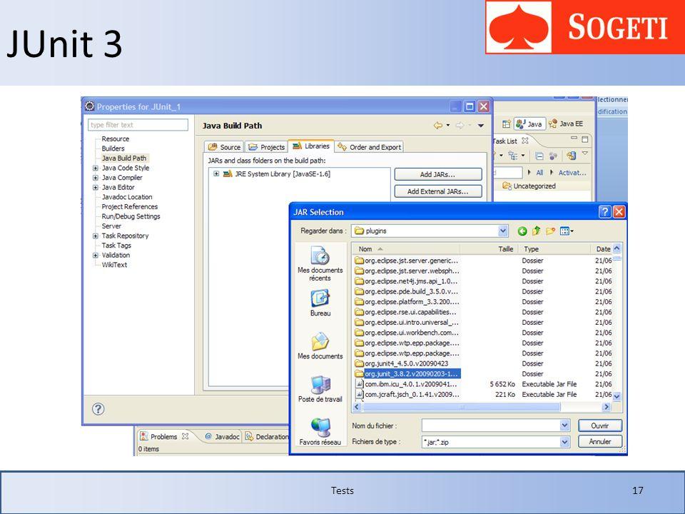 JUnit 3 Tests17