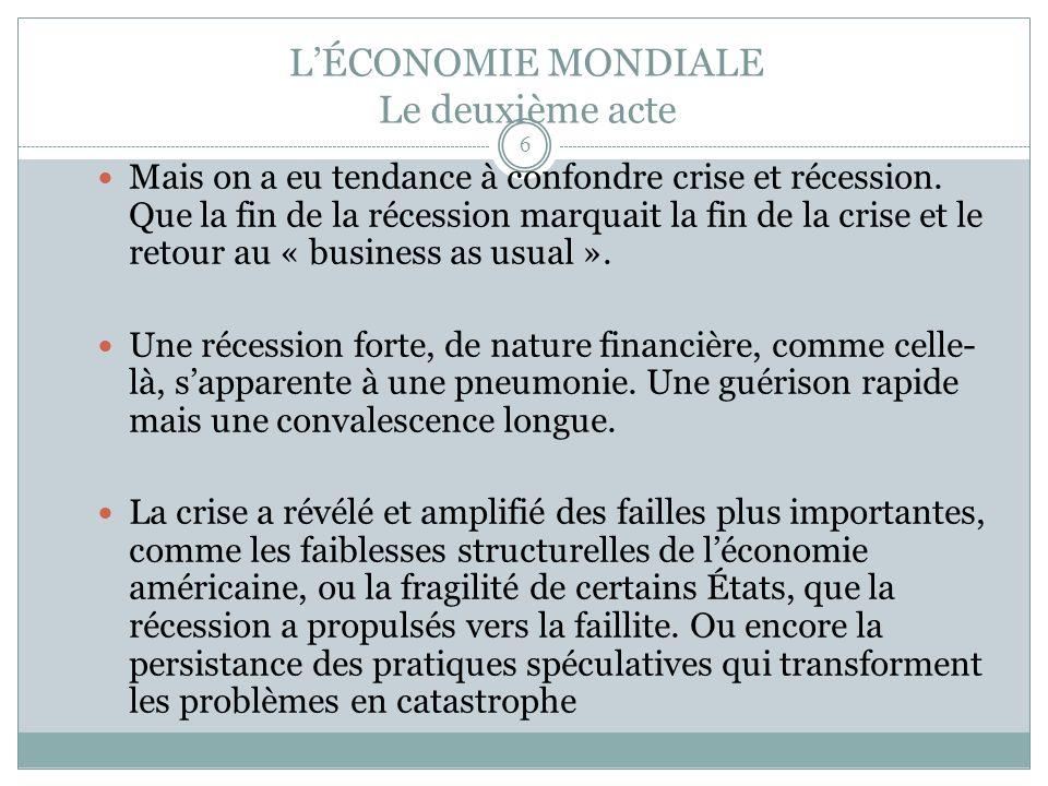 1- LE MYTHE DU RETOUR A LA NORMALE Au Québec, les finances publiques étaient déjà très vulnérables.