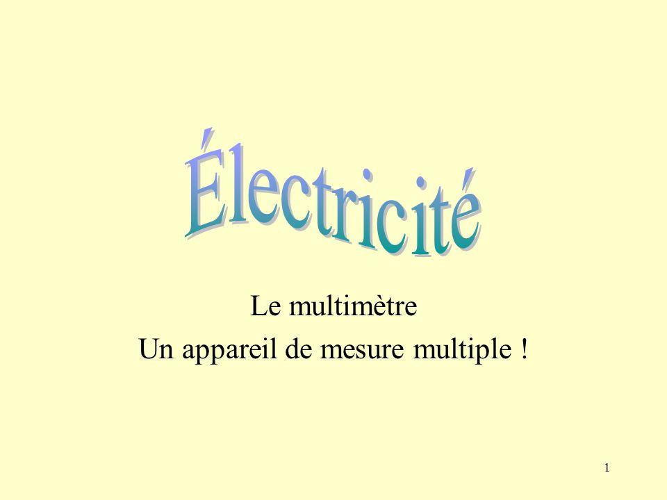 2 Lohmmètre Lohmmètre mesure la résistance électrique.