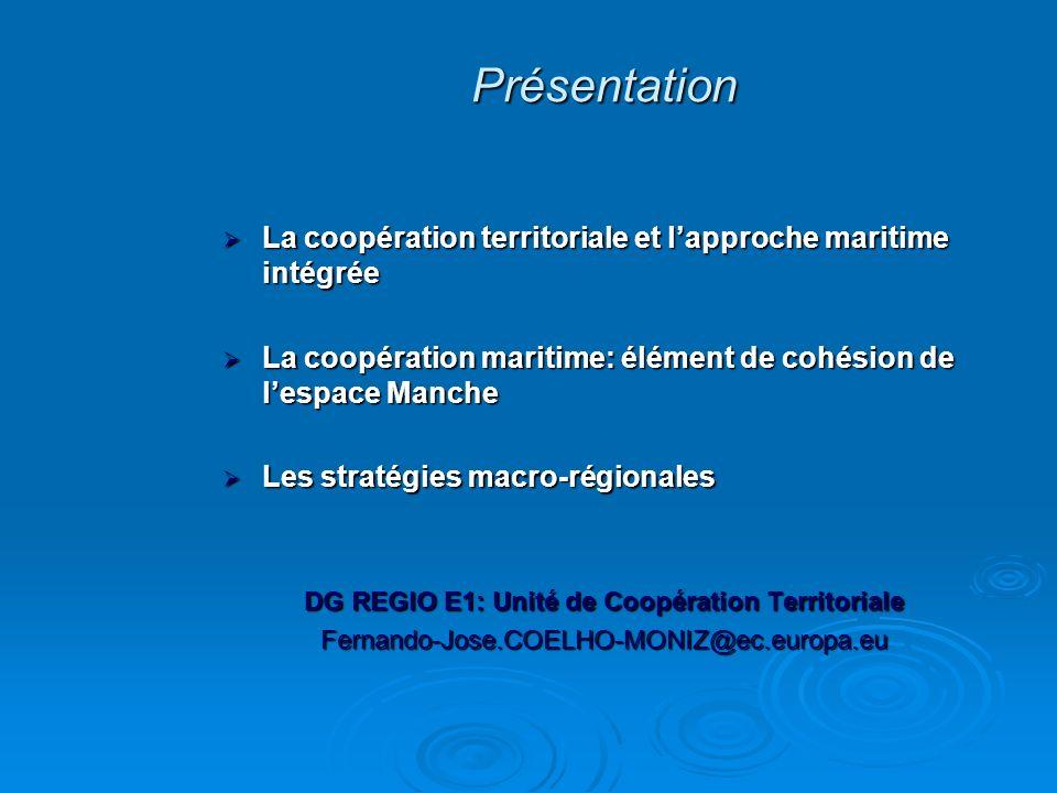 La coopération territoriale et lapproche maritime intégrée La coopération territoriale et lapproche maritime intégrée La coopération maritime: élément