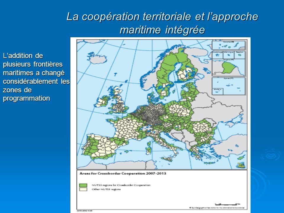 Laddition de plusieurs frontières maritimes a changé considérablement les zones de programmation La coopération territoriale et lapproche maritime int
