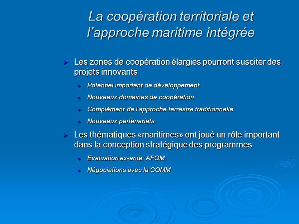 Les zones de coopération élargies pourront susciter des projets innovants Les zones de coopération élargies pourront susciter des projets innovants Po