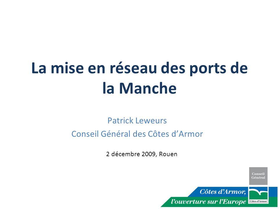 Lorigine de la mise en réseau EMDI : Espace Manche Development Initiative (INTERREG IVB) 2005: le groupe de travail « intermodalité et sécurité maritime » a identifié la nécessité dun réseau de ports.