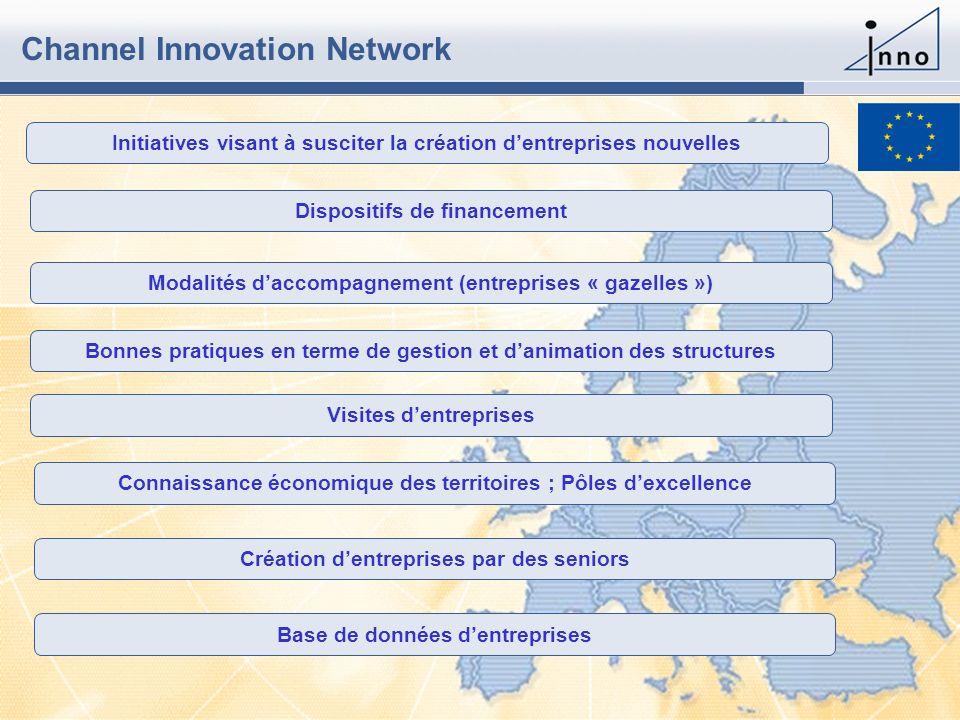 www.inno-group.com Slide 431 May 2006 - Channel Innovation Network Initiatives visant à susciter la création dentreprises nouvelles Dispositifs de fin