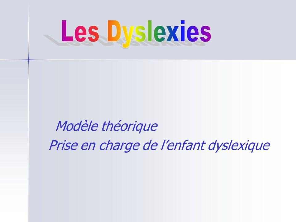 Modèle théorique Prise en charge de lenfant dyslexique