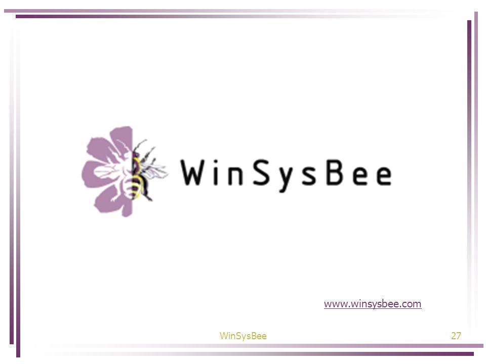 WinSysBee27 www.winsysbee.com