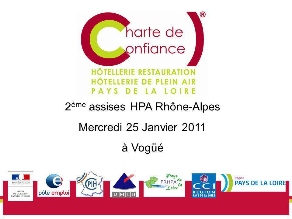 25 01 12 1 2 ème assises HPA Rhône-Alpes Mercredi 25 Janvier 2011 à Vogüé