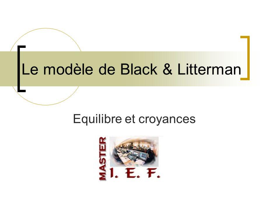 Le modèle de Black & Litterman Equilibre et croyances