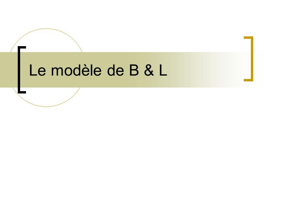 Le modèle de B & L