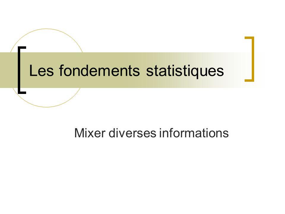 Mixer diverses informations Les fondements statistiques
