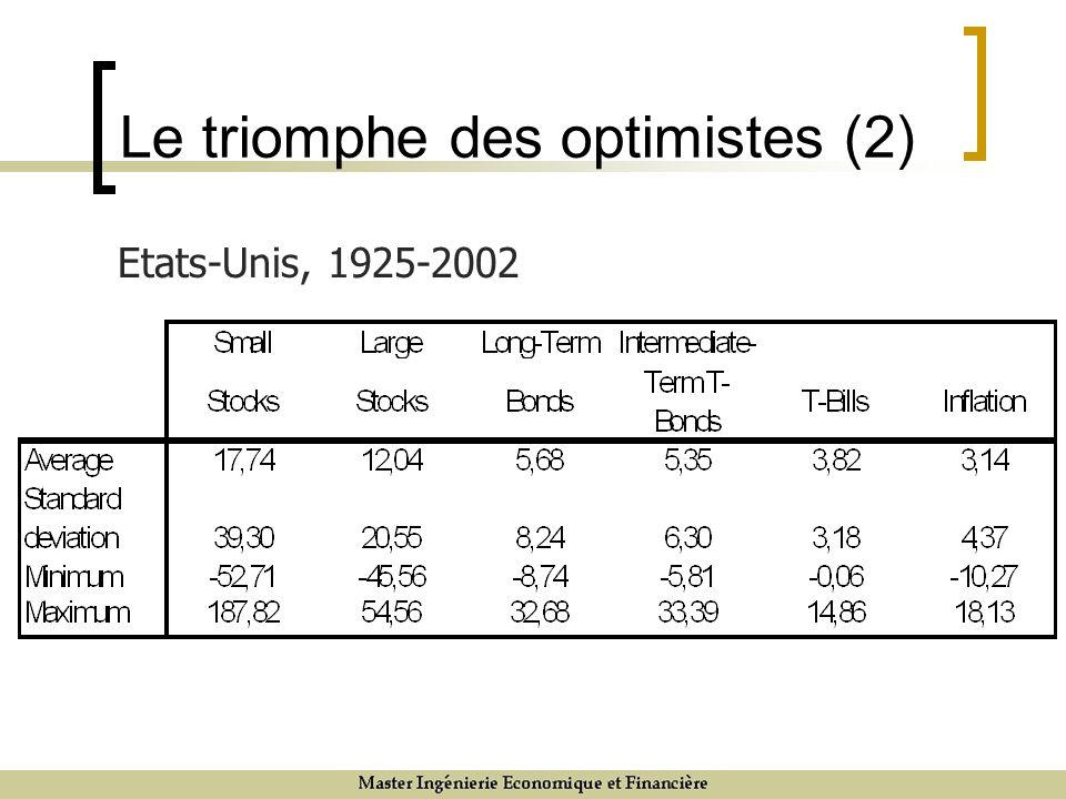 Le triomphe des optimistes (2) Etats-Unis, 1925-2002
