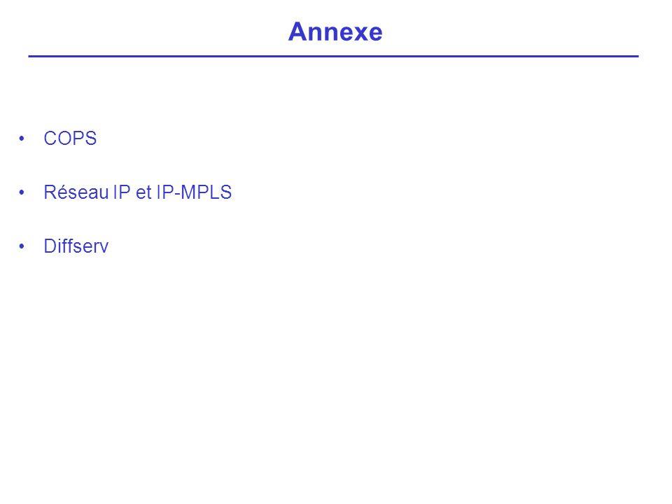 COPS Réseau IP et IP-MPLS Diffserv Annexe