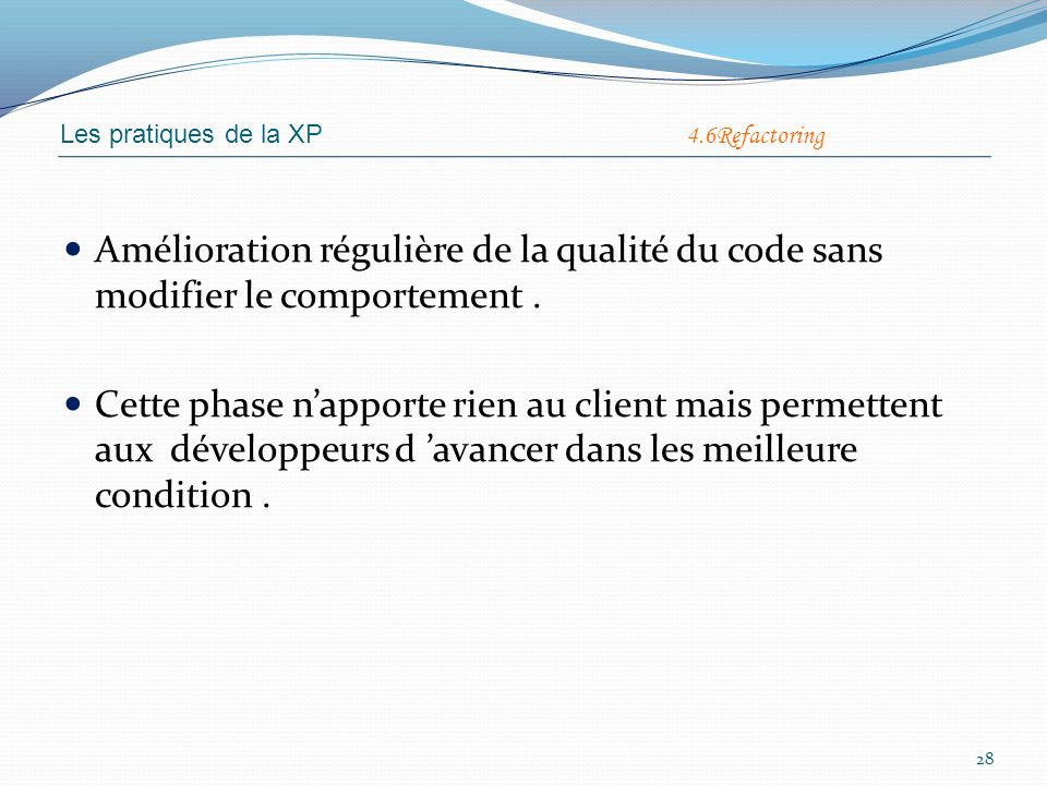 Léquipe est collectivement responsable de lapplication.