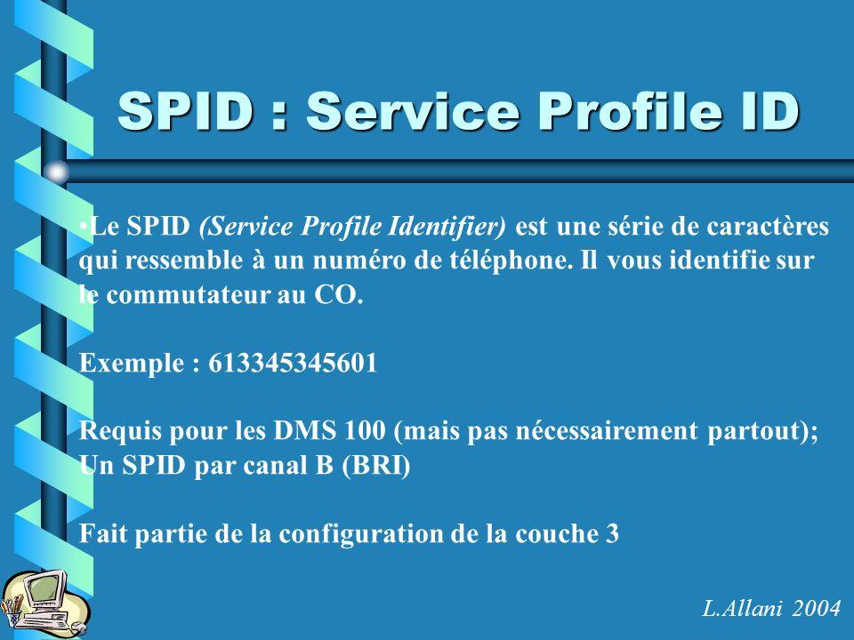 SPID : Service Profile ID Le SPID (Service Profile Identifier) est une série de caractères qui ressemble à un numéro de téléphone. Il vous identifie s