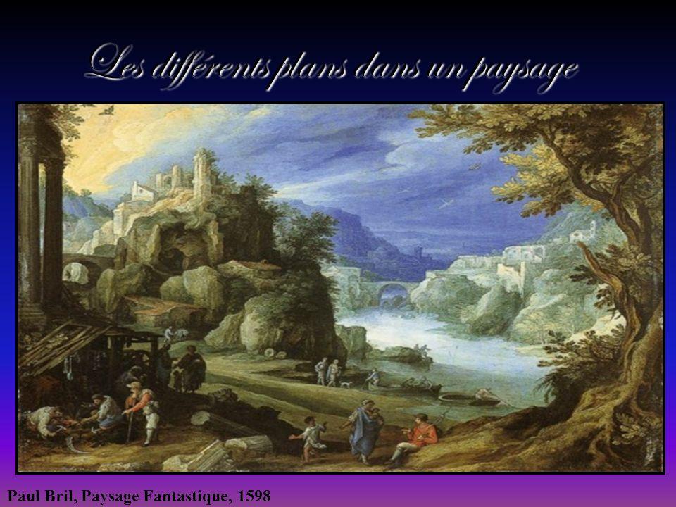 Les différents plans dans un paysage Paul Bril, Paysage Fantastique, 1598