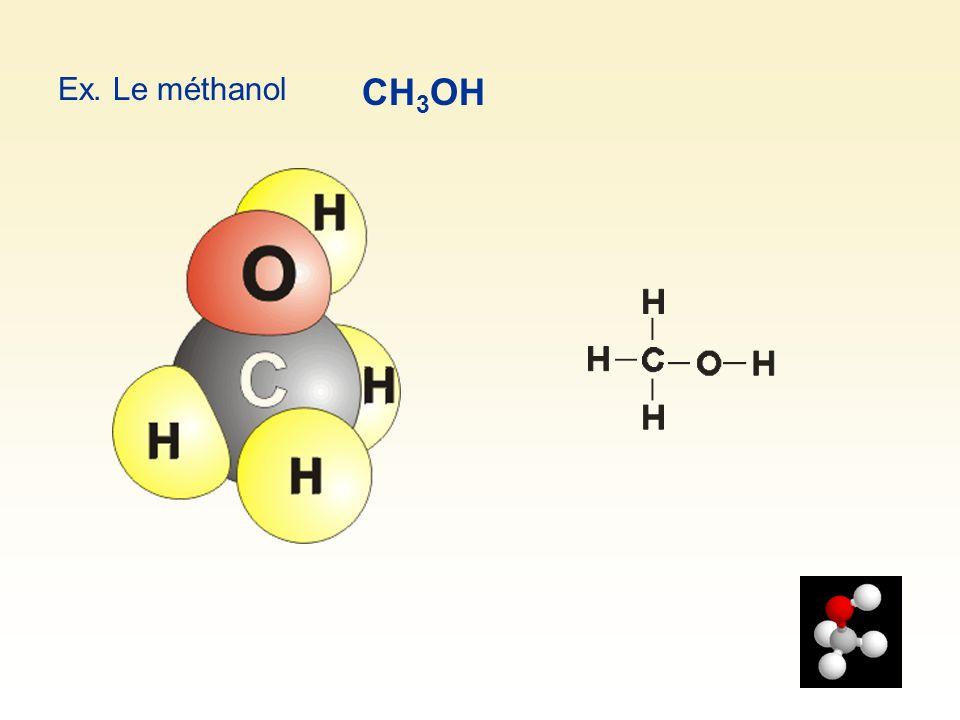 Ex. Le méthanol CH 3 OH